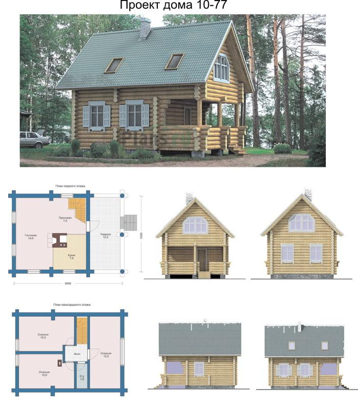 Проект дома 10 77